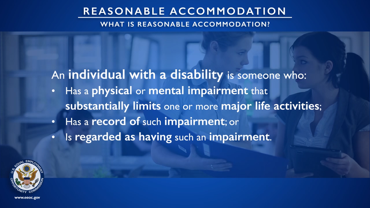EEOC: What is Reasonable Accommodation? (Training Video)