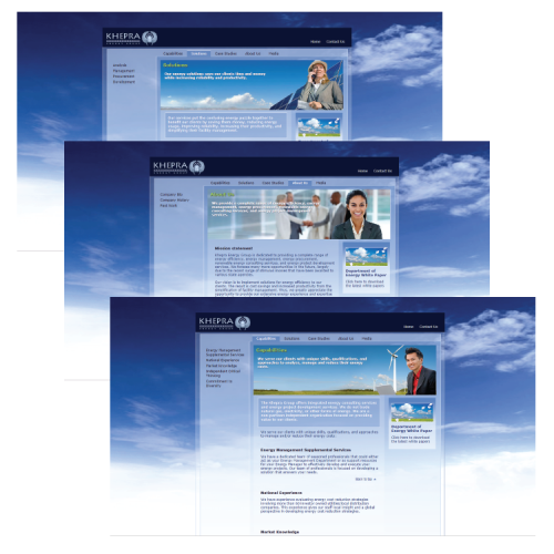 Khepra Energy Group: Web Site Design