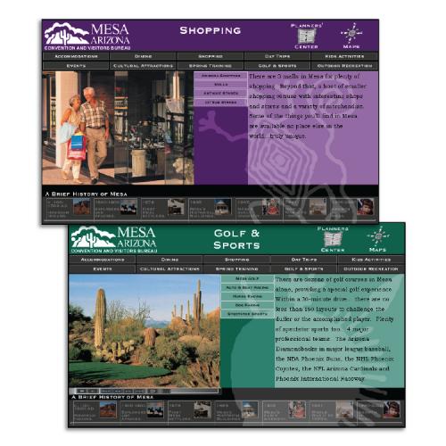 Mesa Convention and Visitors Bureau: Interactive DVD (Shopping / Golf & Sports)
