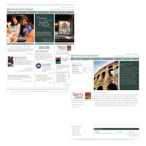 Quinto Game Company: Web Site Design